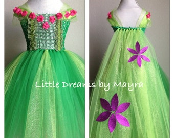 Gorgeous Elsa Frozen fever inspired glitter tutu dress with cape size nb to 9years