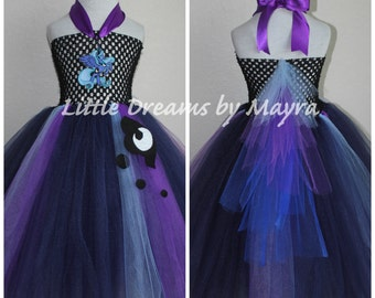 Princess Luna inspired tutu dress - My Little Pony inspired costume size nb to 14years