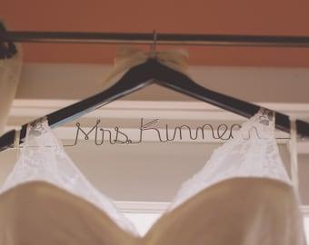 Wedding dress hanger,  rustic wedding hanger,  Personalized bridal hanger,  custom hanger,  wedding hanger,  bride hanger,  bride to be