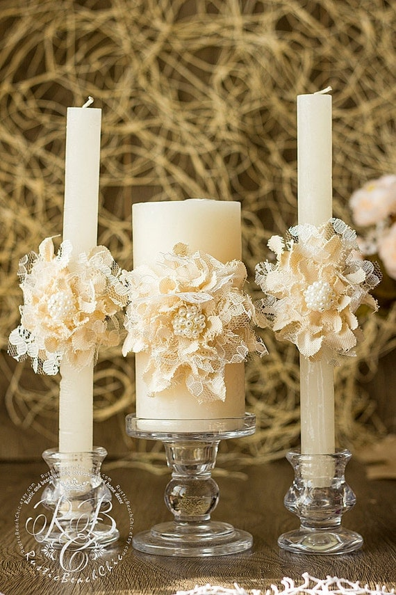 wedding unity candle personalized wedding candle rustic. Black Bedroom Furniture Sets. Home Design Ideas