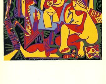 """Pablo Picasso Book Print. """"Le Dejeuner sur l'Herbe March, 1962."""" 1966."""