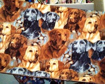 Golden and Labrador Retriever Hunting Dogs Fleece Throw