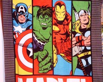 Hulk Thor Capt America Marvel Comics Fleece Throw