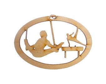 Gymnast Ornament, Ropes - Gymnastics Team Gift - Gymnastics Ornaments - Gymnastics Gift - Gift For Gymnast - Personalized Free