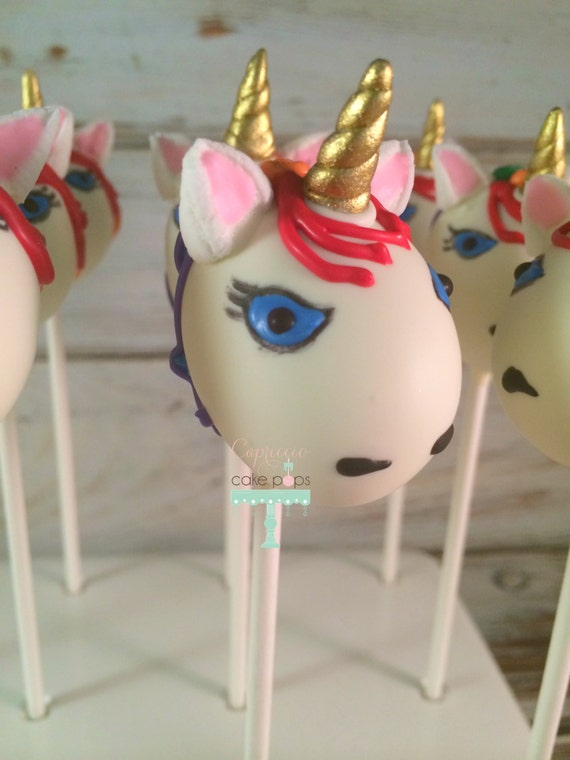 unicorn cake pops items similar to unicorn rainbow cake pops on etsy 8164