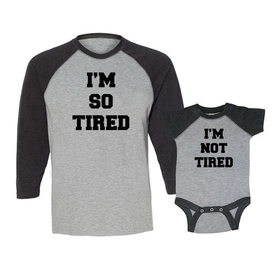 I'm So Tired & I'm Not Tired 2-Piece Baseball By