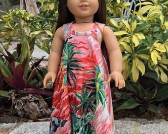 Muumuu fits American Girl Doll and 18 inch dolls