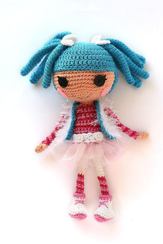 Crochet Pattern For Doll Mittens : Crochet PATTERN Lalaloopsy Mittens doll Amigurumi doll by ...