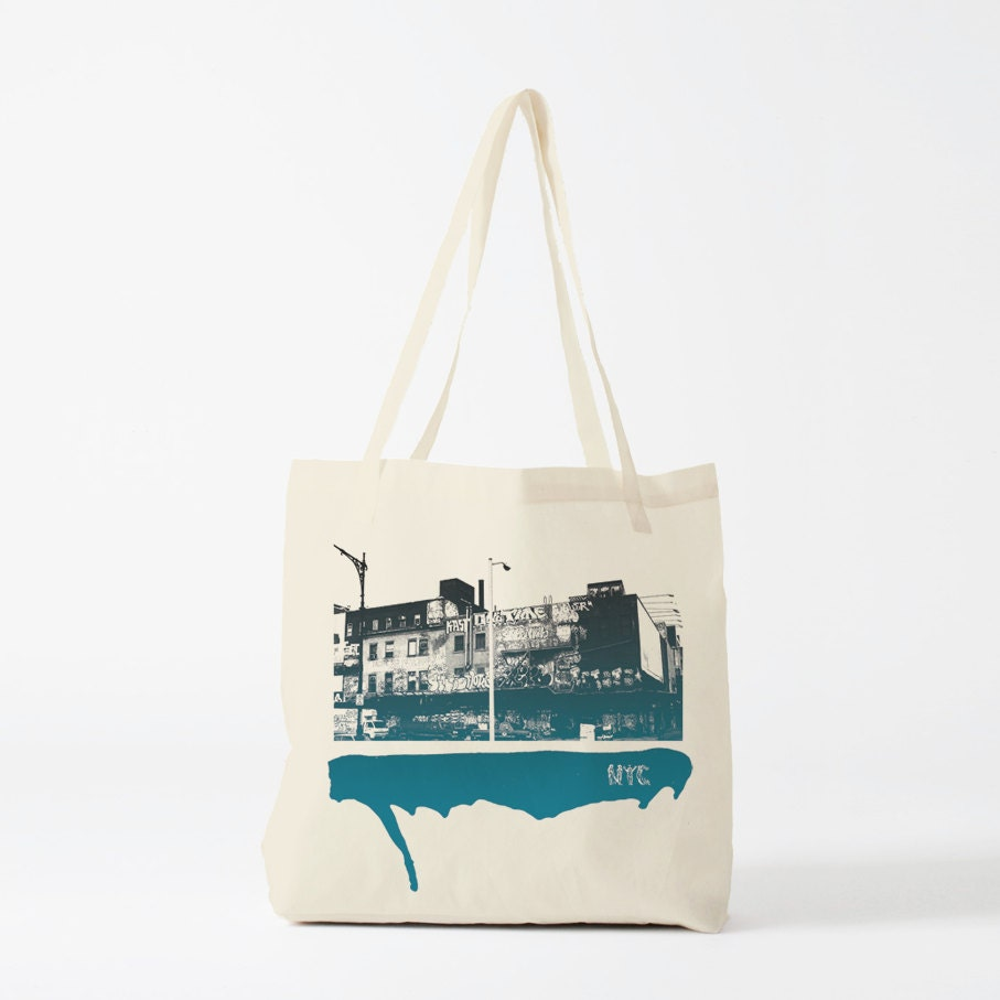 Art Bag Nyc Street Of Nyc Tote Bag Photo Graphic Canvas Bag Gift For