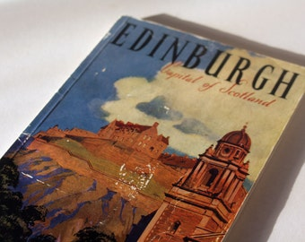 Edinburgh Vintage City Guide paperback Paper Ephemera City Scotland Vintage