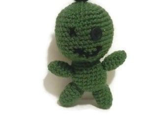 Crochet voodoo zombie doll amigurumi doll MADE TO ORDER