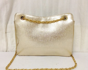 Miss Leurs, Vintage Purse,bags purses, Gold ,bag,Shoulder Bag