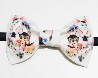 Designer's Handmade Kitty Cat Bowtie