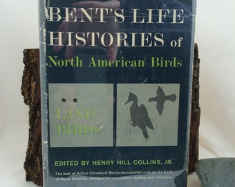 Bent's Life Histories, of North American Birds, Land Birds, Vintage Bird Books,  Bird Lover Gift, Gift Under 40, Arthur Cleveland Bent