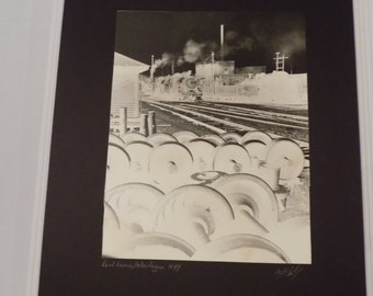 Vintage 1949 Signed 16x20 A.E. Woolley Photograph