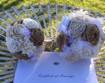 Handmade Vintage Wedding Bouquets