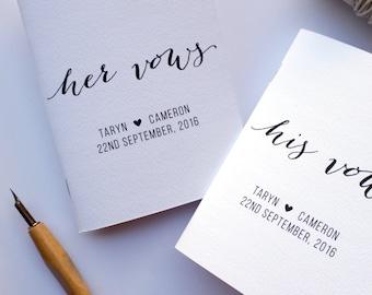 Vow Book, Bridal Shower Gift, Engagement Gift, Wedding Keepsake, Wedding Vows Notebook, Set of 2 Books