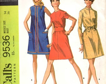 McCall's 9536 Misses Dress in Three Versions Sewing Pattern