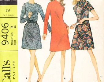 McCall's 9406 Misses Dress in Three Versions Sewing Pattern New Uncut