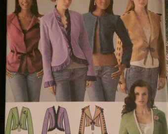 Simplicity 4029 size H5 6-8-10-12-14. Misses' fun jackets in five styles. Uncut and factory folded.
