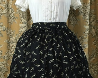Dancing Skeleton Lolita Skirt