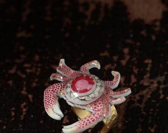 cancer zodiac ring, july birthday gift