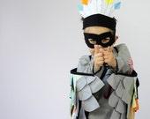 The Feather Crown - NEON -  Handmade Children's Bird Costume Hat