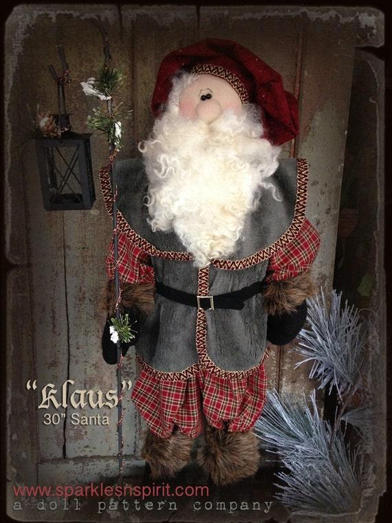 """Pattern: Klaus - 30"""" Santa"""