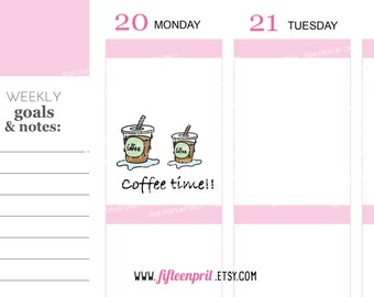 Ice Coffee stickers -J607