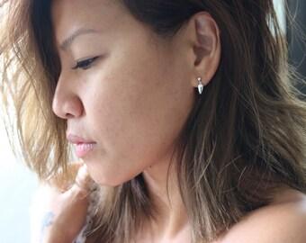 Dainty | Silver Arrowhead | Stud Earrings