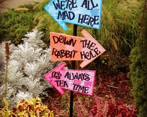 Whimsical Alice in Wonderland Indoor/Outdoor Large Arrow Signs (3) - Bright & Sturdy on Foam Board - Mad Hatter Tea Party, Shower, Birthday