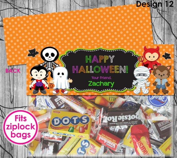 HALLOWEEN Treat Bag Toppers Printable Halloween Birthday
