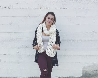 The Maxwell Scarf | Extra Long Scarf | Crochet Scarf | Winter Scarf