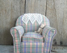 Little Stuffed Rocking Chair Pin Cushion - Doll House Chair