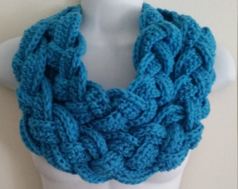 Braided Double Layer Crochet Scarf