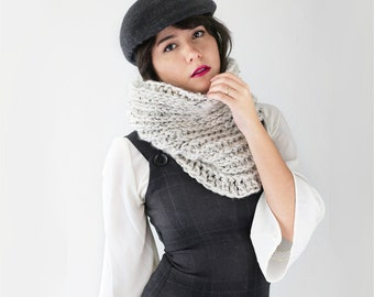 Infinity Crochet Scarf - Loop Scarf - Chunky Scarf Cowl - Crochet Neck Warmer Scarf in Marble - Women's Accessories | The Betelgeuse Cowl |