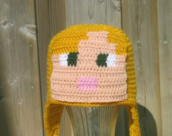 Alex Hat, Minecraft, Kids Alex Hat, Girls Minecraft Hat, Teen Alex Hat, Adult Alex Hat, Crochet Alex Hat, Gaming