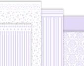 Wallpaper soft lavender for dollhouses 1:12