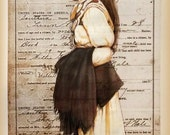 CHOCTAW HERITAGE - Choctaw woman painted on Choctaw birth certificate 1902