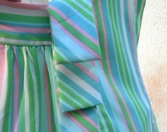 1960's Sears Jr. Bazaar Striped Shift Dress
