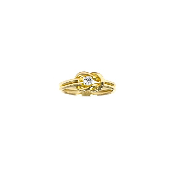 best friends promise ring knot gold ring by