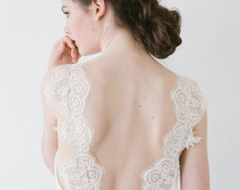 Jordan // A Chiffon Wedding Dress With Lace Straps