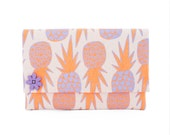 """Oversize Clutch - One of a Kind """"Pineapple"""" Print  - Made in Hawaii by Jana Lam"""