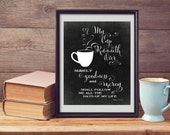 My Cup Runneth Over - Scripture Bible Verse - Psalm 23 - 5x7, 8x10, 11x14 & 16x20 Printable .JPG Files - INSTANT DOWNLOADS - Chalkboard Art
