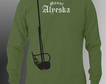 Ski Tee, Alyeska Tee, - by Kiss a Cow -Mount Alyeska Chairlift Tee