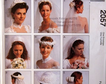 Bridal Veils McCall's 2057 Uncut Sewing Pattern 1999