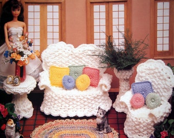 The Veranda Volume IV By Annie's Fashion Doll Home Decor And Annie's Attic Vintage Crochet Pattern Booklet 1992