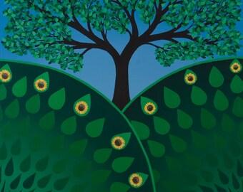 Summer Tree, Seasons Series, fine art print