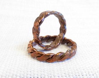 Heavy Copper Twist Ring