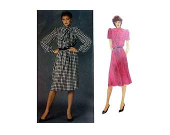 "Paris Original, Givenchy Dress Sewing Pattern, Long or Short Sleeves Misses Size 12 Bust 34"" Uncut Vogue 2735"